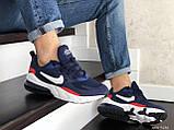 Мужские кроссовки Nike Air Max 270 React синие с белым \ красные, фото 5