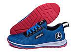 Мужские летние кроссовки сетка Jordan blue (реплика), фото 5