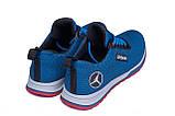 Мужские летние кроссовки сетка Jordan blue (реплика), фото 6