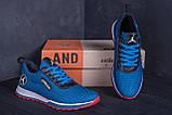 Мужские летние кроссовки сетка Jordan blue (реплика), фото 7
