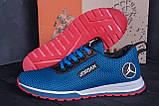 Мужские летние кроссовки сетка Jordan blue (реплика), фото 9