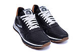 Мужские кожаные летние кроссовки, перфорация Reebok Classic black (реплика), фото 3