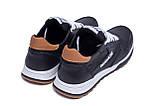 Мужские кожаные летние кроссовки, перфорация Reebok Classic black (реплика), фото 6