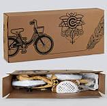 Велосипед детский двухколесный 12 бело-оранжевый Corso 1285, фото 3