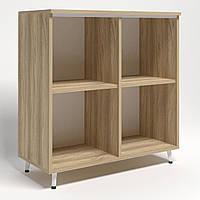 Шкаф книжный открытый Delta DL-904 (864х420х909мм) Блэквуд Ячменный/Опора белый беж