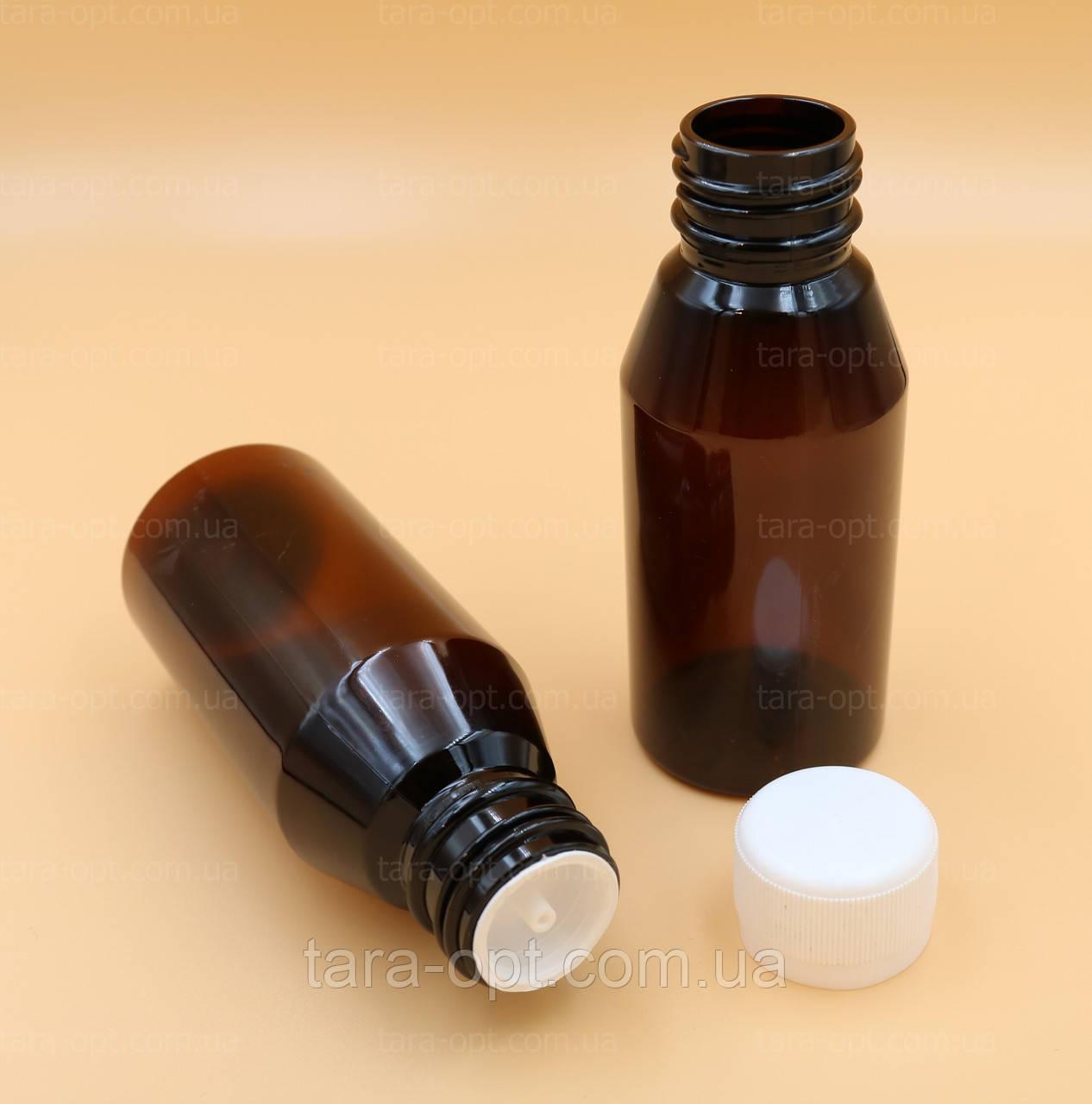 Бутылочка круглая пэт 100 мл-115 мл с капельницей