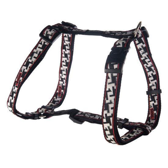 Шлея для собак, черно-белая Fancy Dress Hound Dog (Рогз) M: 32-52 см