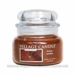 Арома свеча Village Candle Итальянская кожа (время горения до 55 ч), фото 2
