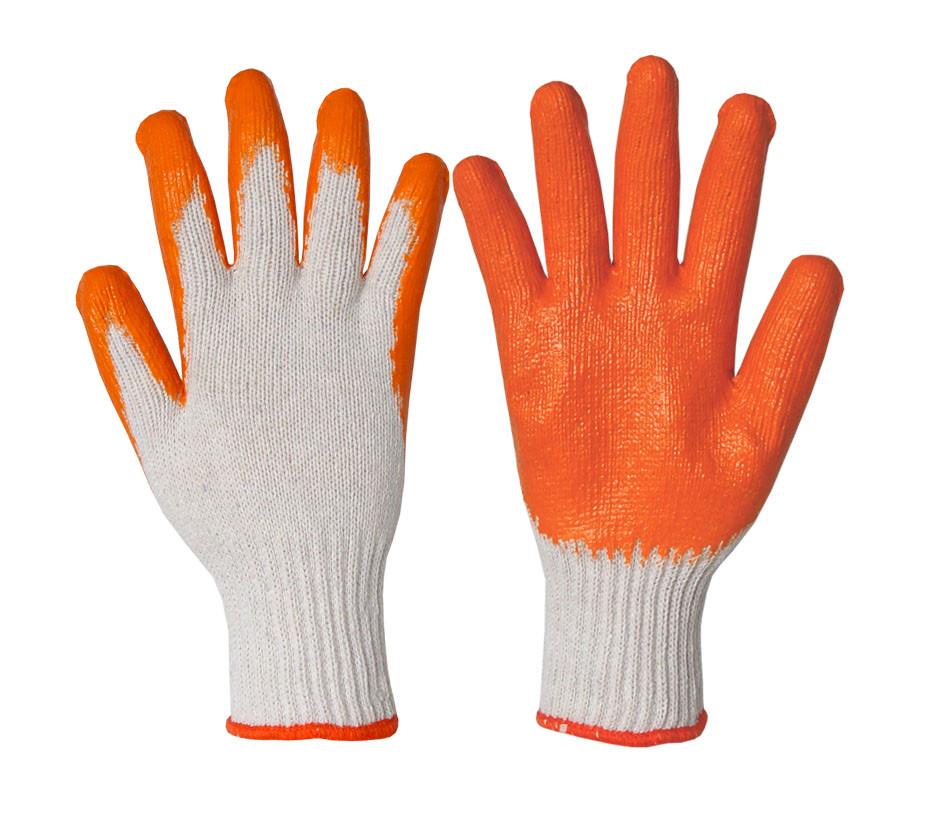 Рабочие перчатки прорезиненные