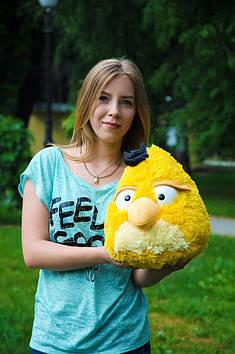 Плюшевий Angry birds злі птахи 45 см жовтий ручна робота