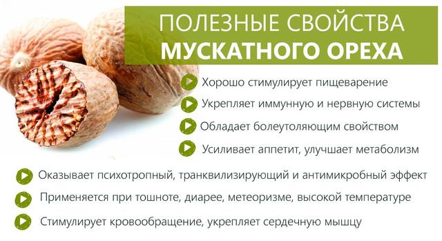Мускатный орех. Полезные свойства