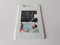 Доска пластиковая кухонная белая крошка 15*25*0,65см VT6-19612