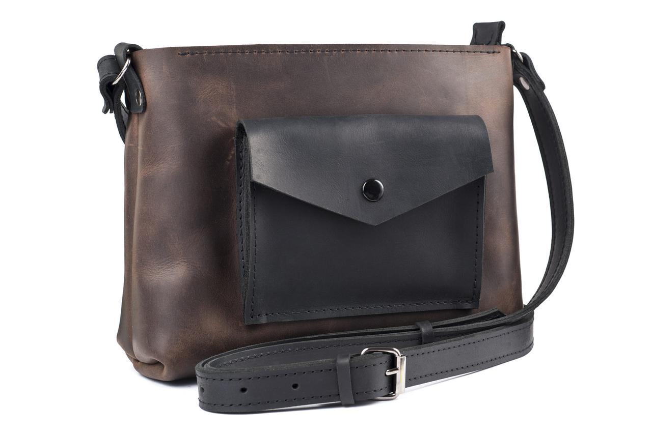 Женская кожаная сумка Bossy шоколад