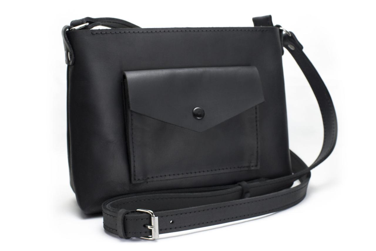 Женская кожаная сумка Bossy черная