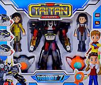Игрушка робот-трансформер Тритан 7 с героями (Q1906)