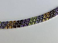 Серебряный браслет с натуральными камнями   Драгоценная сладость
