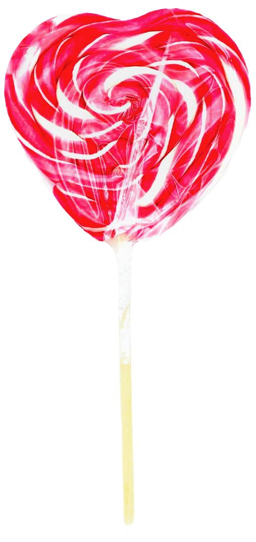 Леденец  «Сердце крученое» фруктовое ассорти