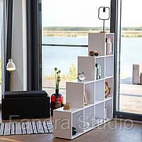 Стелаж-перегородка на 10 комірок, полка для книг, стелаж для іграшок ДСП, фото 8