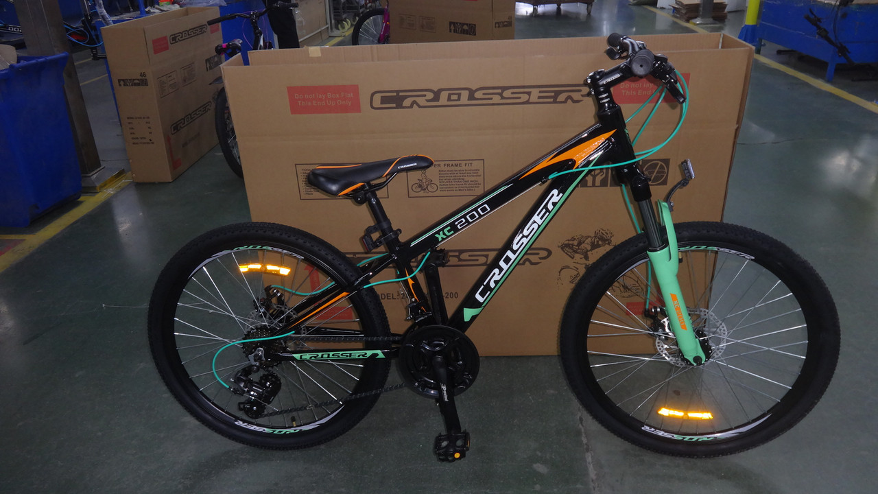 """Подростковый спортивный велосипед Crosser Boy 24"""" (рама из алюминия)"""