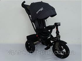 Триколісний велосипед з поворотним сидінням Azimut T-400 Neo AIR Чорний