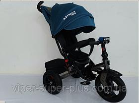 Триколісний велосипед з поворотним сидінням Azimut T-400 Neo AIR Салатовий