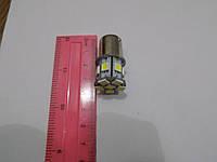 Автомобильная светодиодная лампа освещения поворотов и габаритов 1156-13SMD-5050B-1 контакт-12V (пр-во Китай)