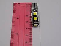 Автомобильная светодиодная лампа диод без цоколя для освещения габаритов T10B-9SMD-5050-CANBUS-12V ( Китай)