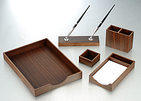 """Настольный набор деревянный 5 предметов """"орех"""""""