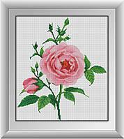 Алмазная мозаика Нежная роза Dream Art 30476 35x40см 16 цветов, квадр.стразы, полная зашивка