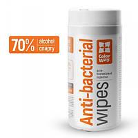 Спиртовые салфетки для дезинфекции ColorWay (CW-1077) 13смx12см, 100шт