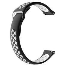Ремешок BeWatch sport-style 20 мм для смарт-часов Xiaomi amazfit BIP Черно-Белый (1010112)