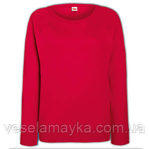Свитшот женский приталенный (Толстовка-реглан). Красный