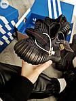 Мужские кроссовки Adidas Yeezy Boost 350 V2 (черные) Рефлективные - 317PL, фото 2