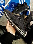 Мужские кроссовки Adidas Yeezy Boost 350 V2 (черные) Рефлективные - 317PL, фото 5
