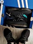Мужские кроссовки Adidas Yeezy Boost 350 V2 (черные) Рефлективные - 317PL, фото 7