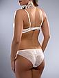 Комплект женского нижнего белья Acousma A6358-2D-P6358H оптом, чашка D, цвет Молочный, фото 4