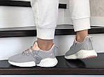 Жіночі кросівки Adidas (сіро-пудрові) 9250, фото 2