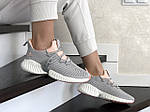 Жіночі кросівки Adidas (сіро-пудрові) 9250, фото 3