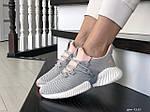 Жіночі кросівки Adidas (сіро-пудрові) 9250, фото 4