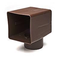 Адаптер парапетной воронки Impertek 100*100 ф100мм для углового слива Коричневый, фото 1