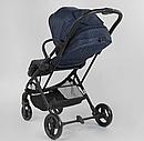 Детская прогулочная коляска Liliya 66916  синяя, фото 8