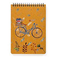 """Эко Блокнот А5 в точку """"Велосипед"""", крафт-картон 2 мм"""