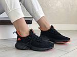 Жіночі кросівки Adidas (чорно-помаранчеві) 9251, фото 2