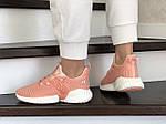 Женские кроссовки Adidas (кораллово-розовые) 9255, фото 2