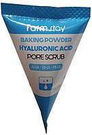 Скраб для лица с гиалуроновой кислотой Farm Stay Baking Powder Hyaluronic Acid Pore Scrub, 7 грамм