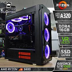 Master A40.  (GTX 1060 6Gb/RX 580 8Gb I AMD Ryzen 5 1600 I A320 I DDR4 16Gb I SSD)