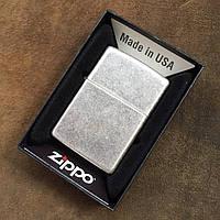 Зажигалка Zippo 121FB CLASSIC antique silver plate