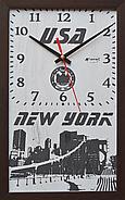 """Эффектные настенные часы """"New York"""", индивидуальная работа., фото 2"""