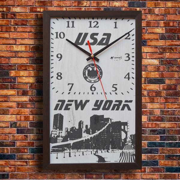 """Эффектные настенные часы """"New York"""", индивидуальная работа."""