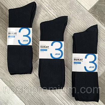Носки мужские хлопок без резинки Jess, Финляндия-Турция, размер 43-45, чёрные, 02115